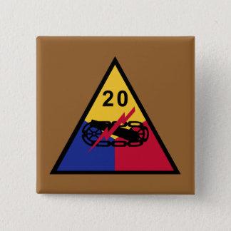 20th Armored Division 2 Inch Square Button
