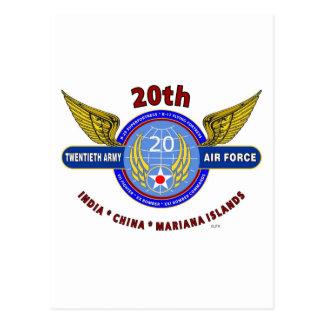 "20TH ARMY AIR FORCE ""ARMY AIR CORPS"" WW II POSTCARD"