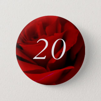 20th Birthday 2 Inch Round Button