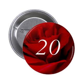 20th Birthday 2 Inch Round Button