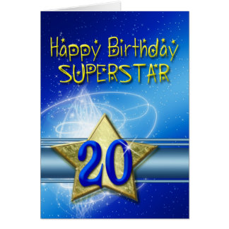 20th Birthday card for Superstar