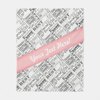 20th Birthday Party Personalized Gifts Fleece Blanket