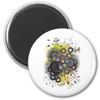 20th-Century Music 2 Inch Round Magnet