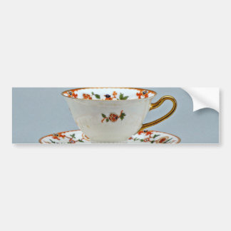 20th century tea cup and saucer, Bavaria, Germany Bumper Sticker