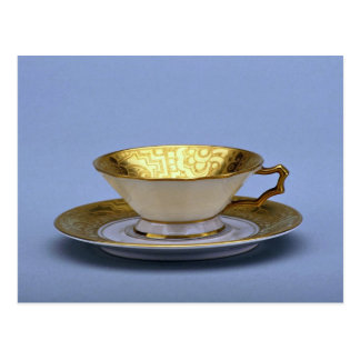 20th century tea cup and saucer, Bavaria, Germany Postcard