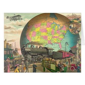 20th Century Transportation 1910 Card