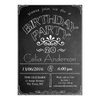 20th Chalkboard Birthday Celebration Invitation