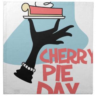 20th February - Cherry Pie Day - Appreciation Day Napkin