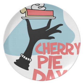 20th February - Cherry Pie Day - Appreciation Day Party Plates