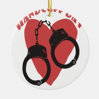 20th February - Handcuff Day - Appreciation Day Ceramic Ornament