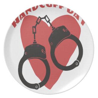 20th February - Handcuff Day - Appreciation Day Plate