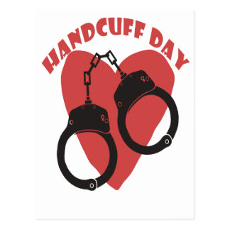 20th February - Handcuff Day - Appreciation Day Postcard