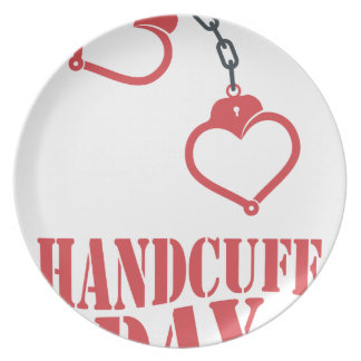 20th February - Handcuff Day Dinner Plate