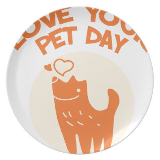 20th February - Love Your Pet Day Dinner Plates