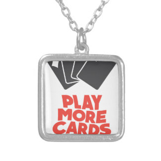 20th February - Play More Cards Day Silver Plated Necklace