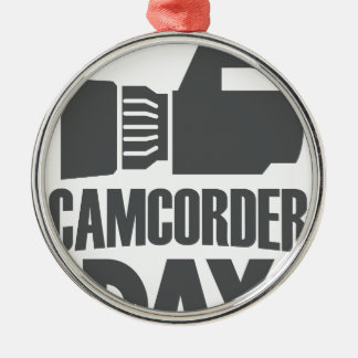 20th January - Camcorder Day Metal Ornament
