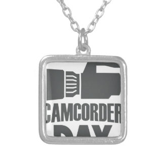 20th January - Camcorder Day Silver Plated Necklace
