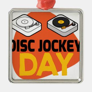 20th January - Disc Jockey Day Metal Ornament