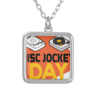 20th January - Disc Jockey Day Silver Plated Necklace