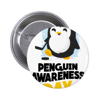 20th January - Penguin Awareness Day 2 Inch Round Button