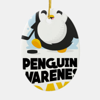 20th January - Penguin Awareness Day Ceramic Oval Ornament
