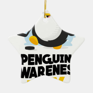 20th January - Penguin Awareness Day Ceramic Star Ornament