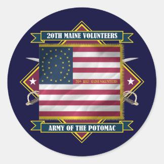 20th Maine Round Sticker