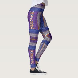 20th Pattern; Curved Bar, Mosaic & Web Leggings