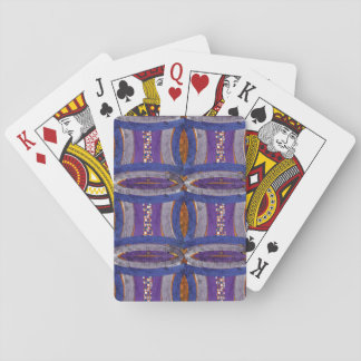 20th Pattern; Curved Bar, Mosaic & Web Playing Cards
