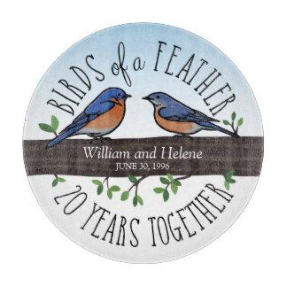 20th Wedding Anniversary, Bluebirds of a Feather Cutting Boards
