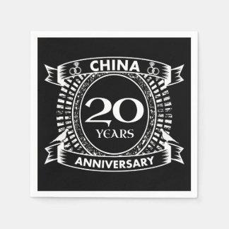 20TH wedding anniversary china Napkin