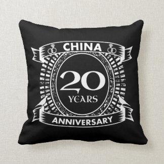 20TH wedding anniversary china Throw Pillow