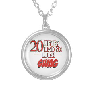 20th year anniversary round pendant necklace