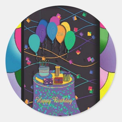 20thsurprisepartyyinvitationballoons copy round stickers
