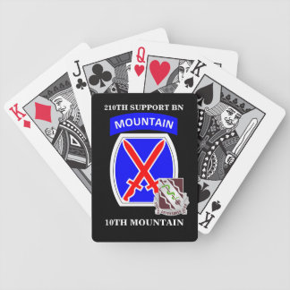 210TH SUPPORT BN 10TH MOUNTAIN PLAYING CARDS