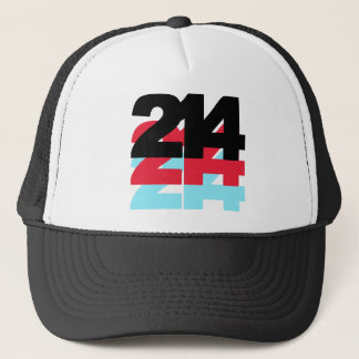 214 Area Code Trucker Hat