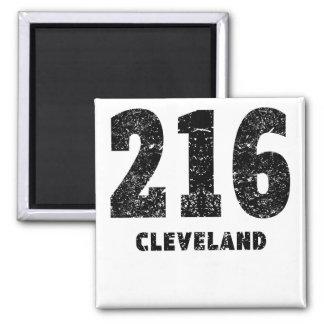 216 Cleveland Distressed Magnet