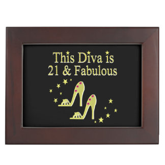 21 AND FABULOUS GOLD SHOE QUEEN DESIGN MEMORY BOXES
