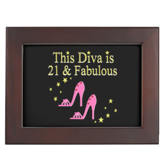 21 AND FABULOUS PINK SHOE QUEEN DESIGN MEMORY BOXES