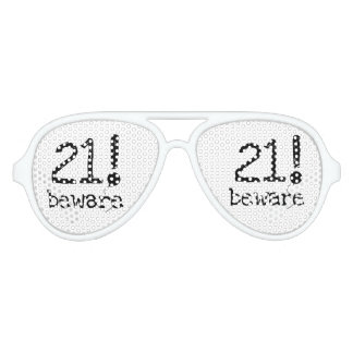 21 Beware 21st Birthday Party Shades