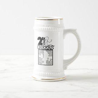 21 Cheers B&W Beer Stein