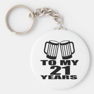 21 Cheers To My Birthday Keychain