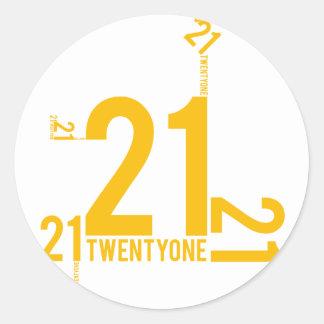 21 CLASSIC ROUND STICKER