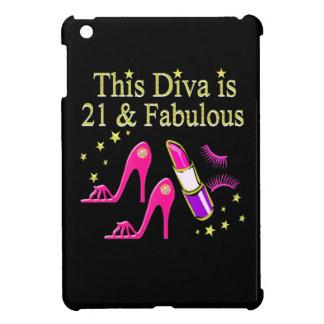 21 & FABULOUS PINK SHOE AND LIPSTICK DIVA DESIGN iPad MINI CASES