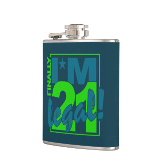 21 & LEGAL custom flask