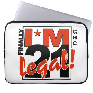 21 & LEGAL custom mnogram laptop sleeves
