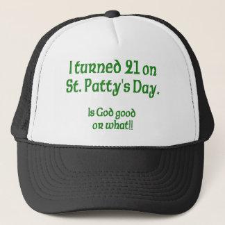 "21 on St Patty""s Day Trucker Hat"