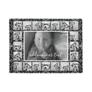 21 Photo Collage and Tile Pattern - CAN Edit COLOR Doormat