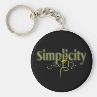 21 Simplicity Basic Round Button Keychain