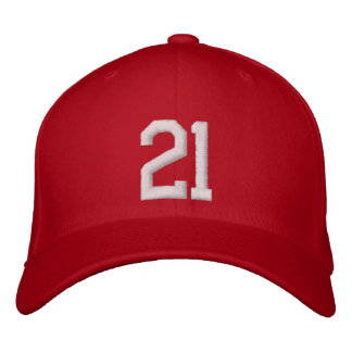 21 Twenty One Embroidered Hat